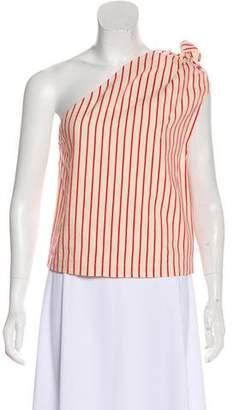 Rosie Assoulin Stripe One-Shoulder Top
