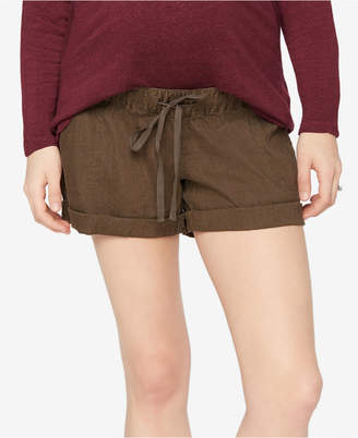 A Pea in the Pod Linen Maternity Shorts