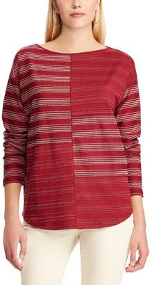 Chaps Women's Striped Boatneck Top
