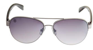 Nicole Miller Nicole By Full Frame Aviator UV Protection Sunglasses-Womens