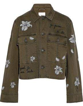 Cinq à Sept Cosette Embroidered Cotton-Twill Jacket