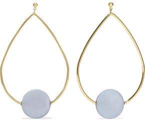 Elizabeth and James Gold-Tone And Resin Earrings