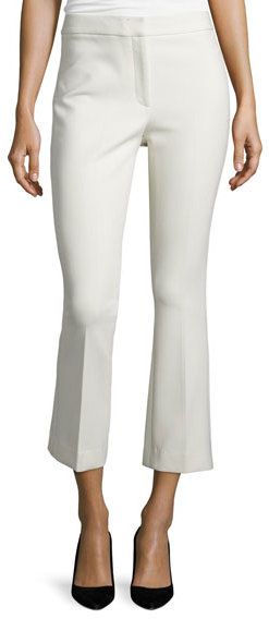 TheoryTheory Erstina Pioneer Cropped Pants, Pearl Ivory