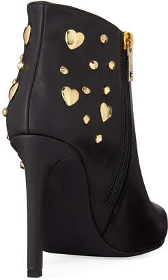Love Moschino Heart Studded Leather Booties