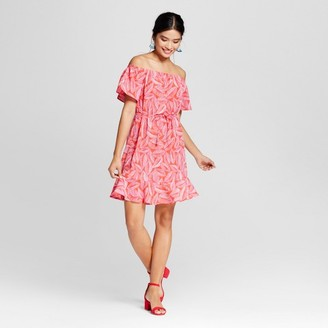 Merona Women's Palm Print Cold Shoulder Dress - Merona Red Palm $27.99 thestylecure.com