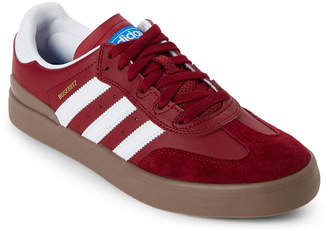 adidas Burgundy & White Busenitz Vulc RX Low-Top Sneakers