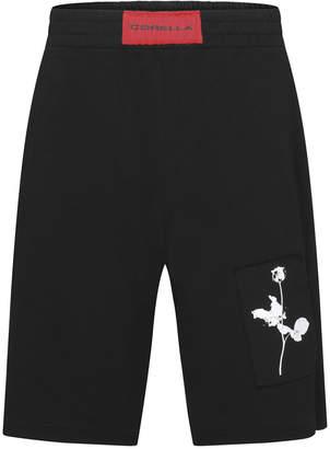Corella Men Floral Patch Shorts