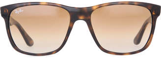 Ray-Ban Light Havana square-frame sunglasses with brown gradient lenses RB4181 57