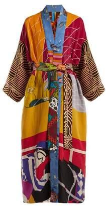 Rianna + Nina - Vintage Patchwork Silk Kimono Coat - Womens - Multi