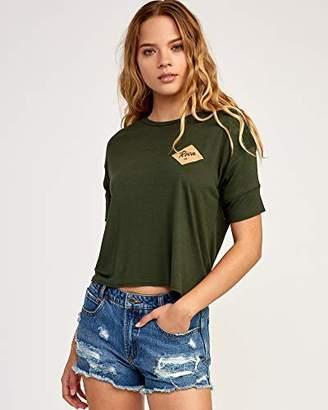 RVCA Junior's Postmark Drapey Short Sleeve T-Shirt