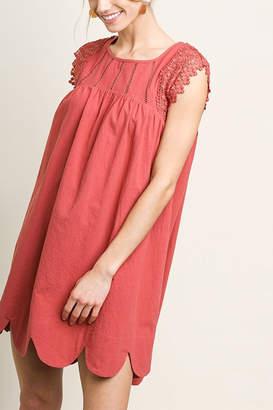 Umgee USA Lace Sleeve Dress