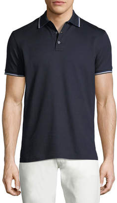 Ralph Lauren Tipped-Trim Piqué; Polo Shirt