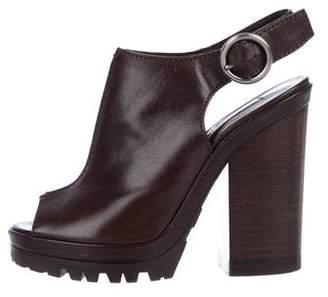 Michael Kors Peep-Toe Slingback Booties