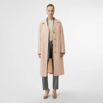 Burberry Belted Cotton Silk Car Coat , Size: 06, Pink