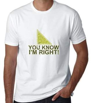 Hollywood Thread You Know I'm Right! Geometry Angle Funny Men's T-Shirt