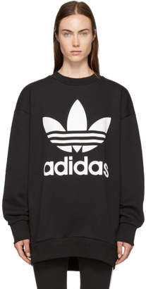 adidas Black Oversized Logo Sweatshirt Dress