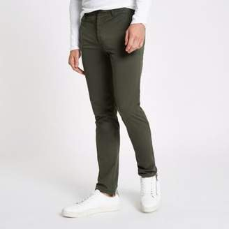 River Island Green skinny fit chino pants