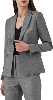 Reiss Alber Tweed Stretch Wool Blend Blazer