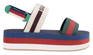 Gucci Stripe Platform Sandals