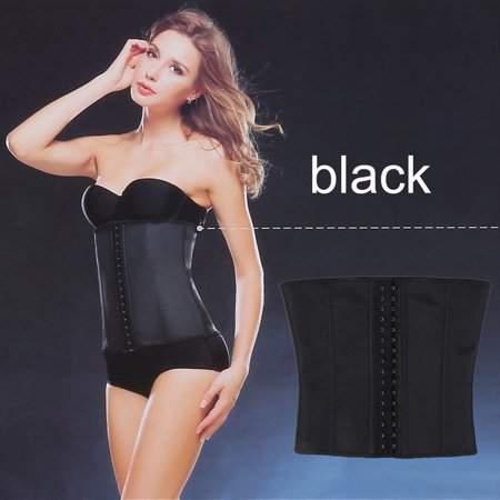HYL Women Natural Latex Waist Cincher Slimming Corsets Shapewear Push Up Vest