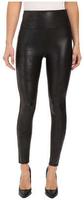 Spanx Cut & Sew Cropped Leather Leggings $98 thestylecure.com