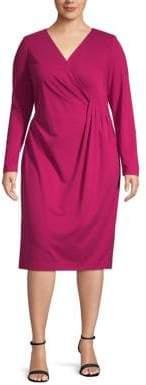 Lafayette 148 New York Plus Long-Sleeve Sheath Dress