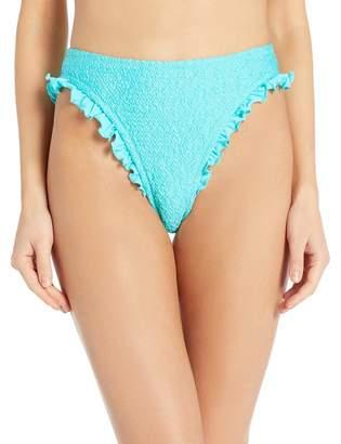 Coco Rave Women's High Waist Bikini Bottom Swimsuit with Side Ruffle