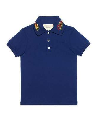 Gucci Short-Sleeve Dragon Polo, Size 4-12 $245 thestylecure.com