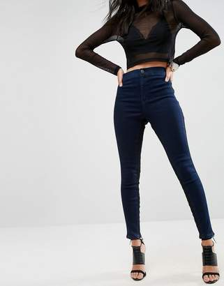 Asos Design RIVINGTON High Waisted Jegging with Side inserts