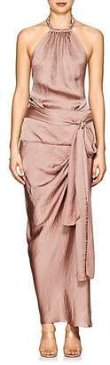 Juan Carlos Obando Women's Draped Satin Halter Dress - Pink