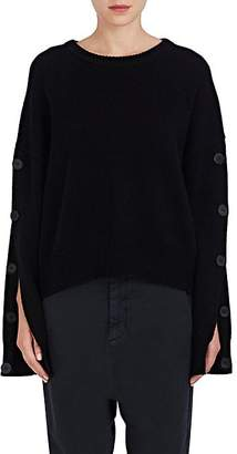 Nili Lotan Women's Martina Wool-Cashmere Button-Sleeve Sweater - Black