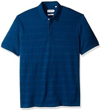 Lacoste Men's Short Sleeve Casual Elegance Stripe Pique Jersey Slim Polo