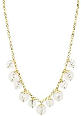 """Aqua Lucite Ball Necklace, 30"""" - 100% Exclusive"""