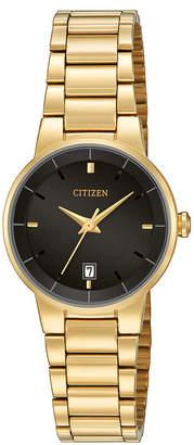 Citizen Quartz Citizen Womens Gold-Tone Stainless Steel Bracelet Watch EU6012-58E