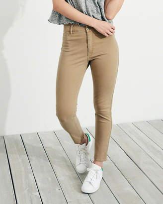 Hollister Stretch High-Rise Crop Super Skinny Pants