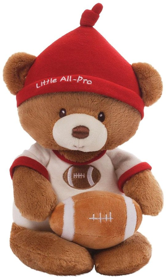 Gund Little All Pro Football Teddy Bear and Rattle