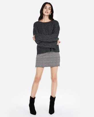 Express Cable Knit Wide Sleeve Pullover Sweater