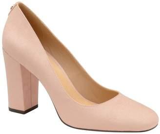 Ravel Womens Block Heel Leather Courts - Nude