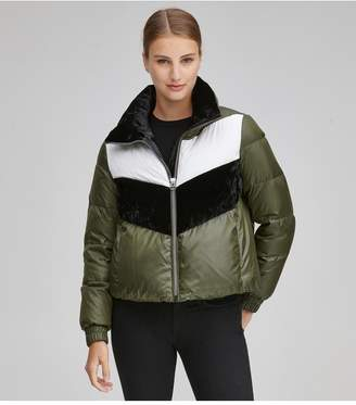 Andrew Marc Bedford Color Block Down Puffer