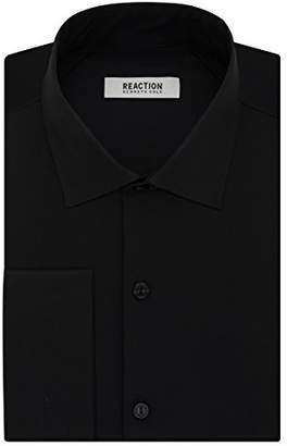 Kenneth Cole Reaction Mens Technicole Slim Fit French Cuff Dress Shirt