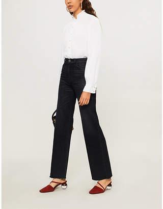 BA&SH Ruffled collar cotton shirt