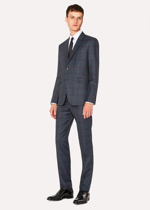 Paul Smith The Kensington - Men's Slim-Fit Slate Grey Check Wool Suit