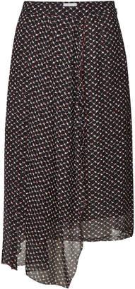 Lala Berlin Kali Printed Silk Skirt