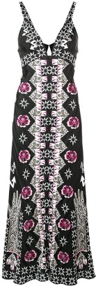 Temperley London Flux printed flared dress