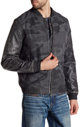 Robert Graham Evanson Genuine Sheep Leather Classic Fit Bomber Jacket $698 thestylecure.com
