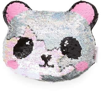Iscream Mini Panda Flip Sequin Accent Pillow