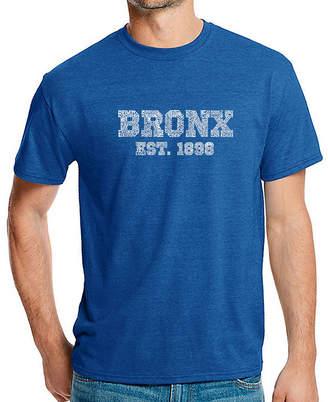 Bronx LOS ANGELES POP ART Los Angeles Pop Art Men's Big & Tall Premium Blend Word Art T-Shirt - Popular Neighborhoods In