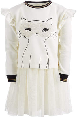 Epic Threads Toddler Girls Layered-Look Cat Dress