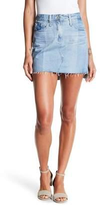 AG Jeans Sandy Cutoff Denim Mini Skirt