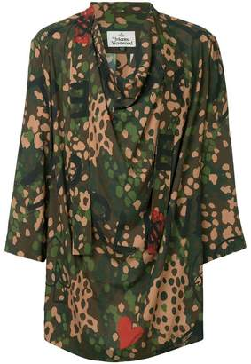 Vivienne Westwood camouflage print shirt